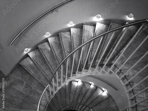 Fototapety, obrazy: High Angle View Of Staircase