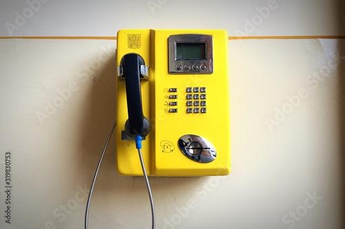 Fototapeta Close-Up Of Telephone Booth