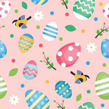 Easter Pattern With Decorated ...