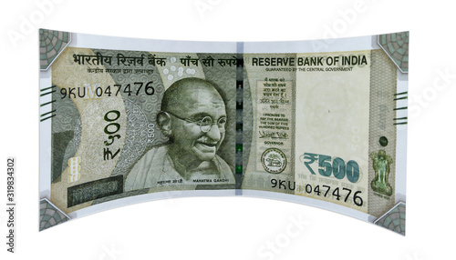 Indian rupees 500 new note. single front and back Canvas Print