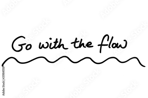 Go with the Flow Wallpaper Mural