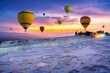 Hot Air Balloons And Natural T...