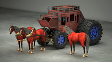 Modified Carriage With Giant T...