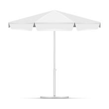 White Empty Beach Umbrella Com...