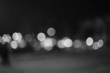 Close-Up Of Defocused Lights At Night