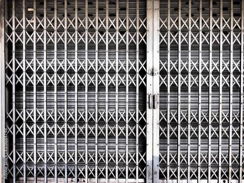 Fototapeta Closed Gate Of Store