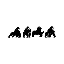 Gorilla Mascot Sport Logo And ...
