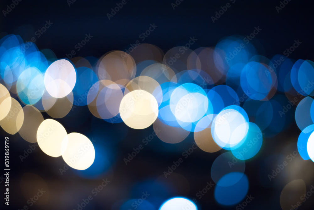 Fototapeta Defocused Image Of Illuminated Lights