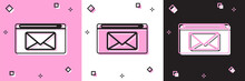 Set Mail And E-mail Icon Isola...