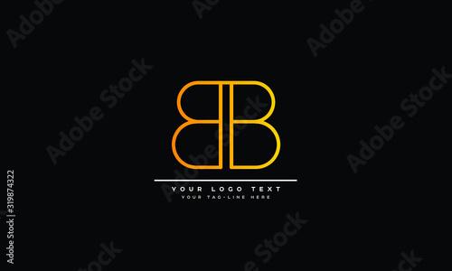 B ,BB Letter Logo Design with Creative Modern Trendy Typography Canvas Print