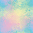 canvas print picture - Rainbow variegated bleed ink holographic pearlescent opalescent geometric seamless repeat raster jpg pattern swatch.
