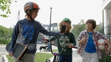 Boys With Bicycle, Skateboard ...