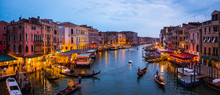 Venice Canal Panorama At Night...