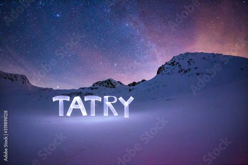 Tatry Greeting Card - Milky Way Canvas Print