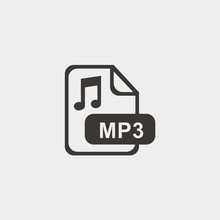 Mp3 Format Icon Vector Illustration And Symbol Foir Website And Graphic Design