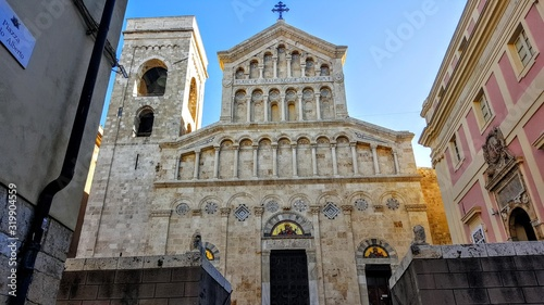Fotografie, Obraz Low Angle View Of Cagliari Cathedral