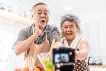 Couple Senior Asian Elder Happ...