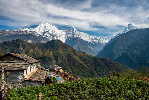 Beautiful view of Annapurna range includes Mt Wallpaper Mural