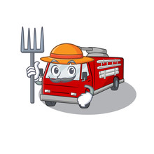 Cheerfully Farmer Fire Truck C...