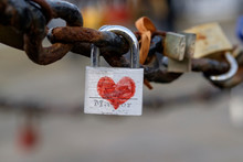Close-Up Of Love Padlocks On C...