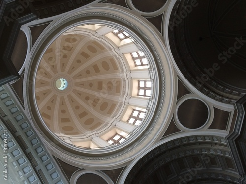Canvas Print Low Angle View Of Cupola In Church