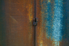 Rusty Brown And Blue Gate Of O...
