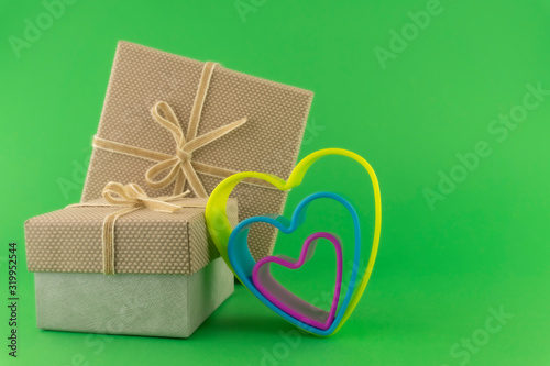 Romantic still life with decorative gifts