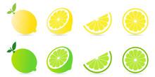 Collection Set Of Fresh Lemon ...