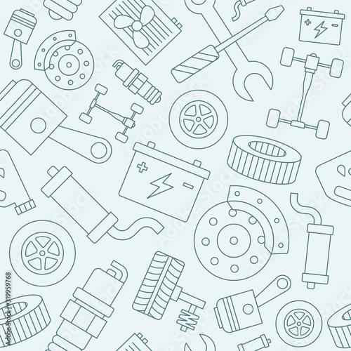Tapety Industrialne  tlo-naprawy-samochodu-wektor-wzor-czesci-zamiennych-pojazdu-do-projektowania-graficznego
