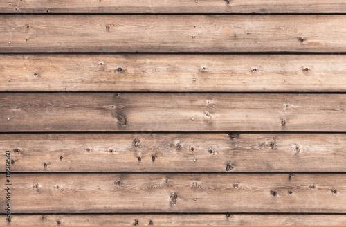 Fototapeta Natural wooden wall made of pine tree boards obraz