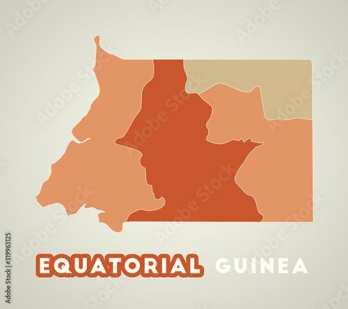 Cuadros en Lienzo Equatorial Guinea poster in retro style