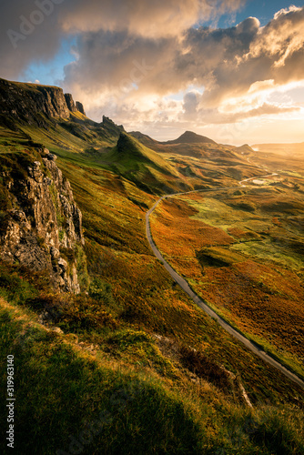Fototapeta Beautiful sunrise at the Quiraing