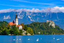 Bled Island On Lake Bled, A Po...