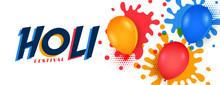 Happy Holi Watercolor Balloons...