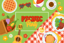 Picnic Party Banner Design Wit...