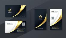 Luxury Golden Business Card Template Design Set