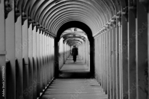 Person Walking In Passage