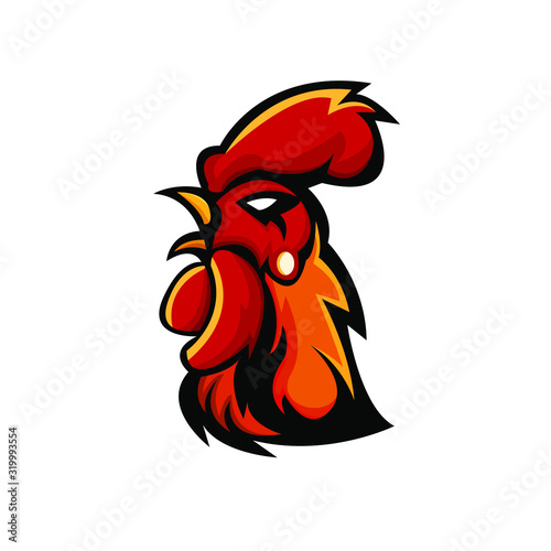 Fotografie, Tablou Rooster mascot logo design with modern illustration concept style for badge, emblem and t shirt printing