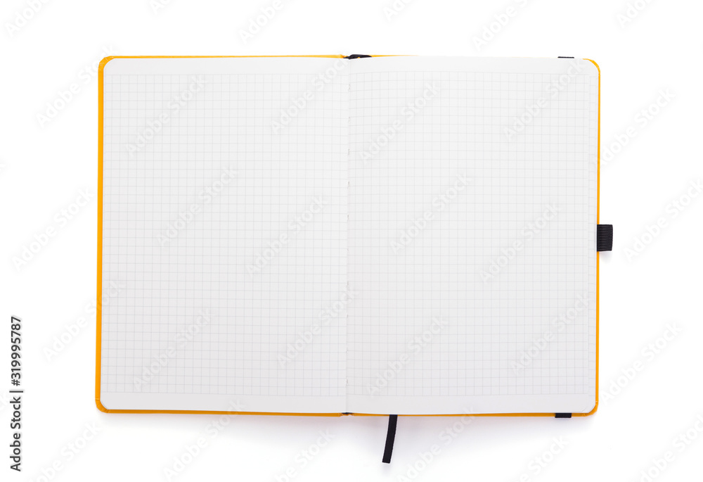 Fototapeta notepad or notebook paper at white background