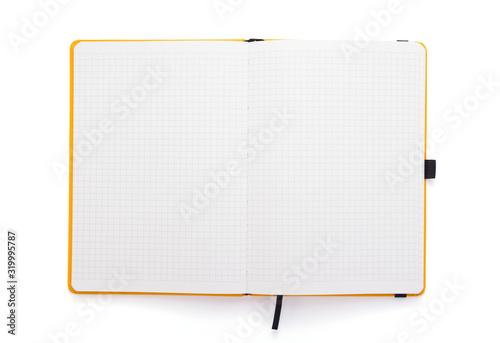 Obraz notepad or notebook paper at white background - fototapety do salonu