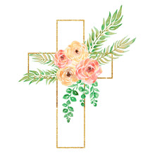 Watercolor Easter Cross Clipar...