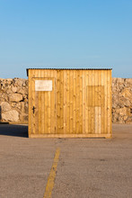 Closed Wooden Cabin