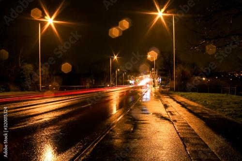Cuadros en Lienzo Urban lightpainting