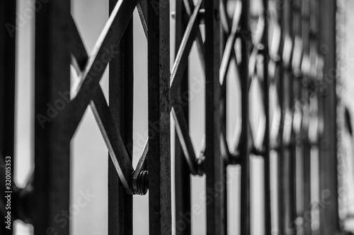 Obraz na plátně Close-Up Of Metallic Gate