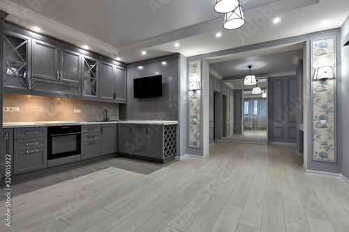 Fototapeta kitchen living room obraz