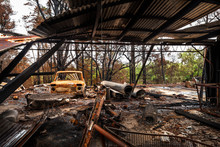 Remains Of A Homestead In Bilpin, North-west Of Sydney After The Devastating Bushfires Caused By Climate Change In December 2019 In Blue Mountains, Australia.