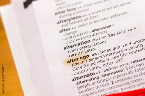 Платно The word or phrase Alter Ego in a dictionary.