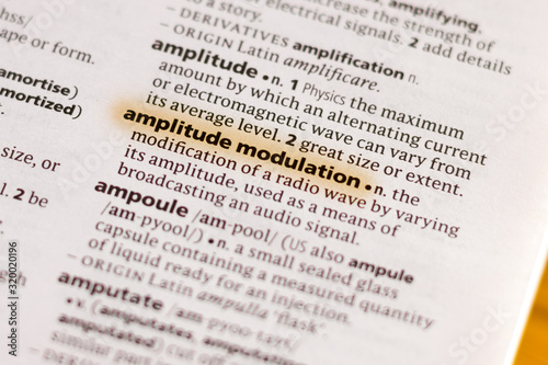The word or phrase Amplitude Modulation in a dictionary. Wallpaper Mural