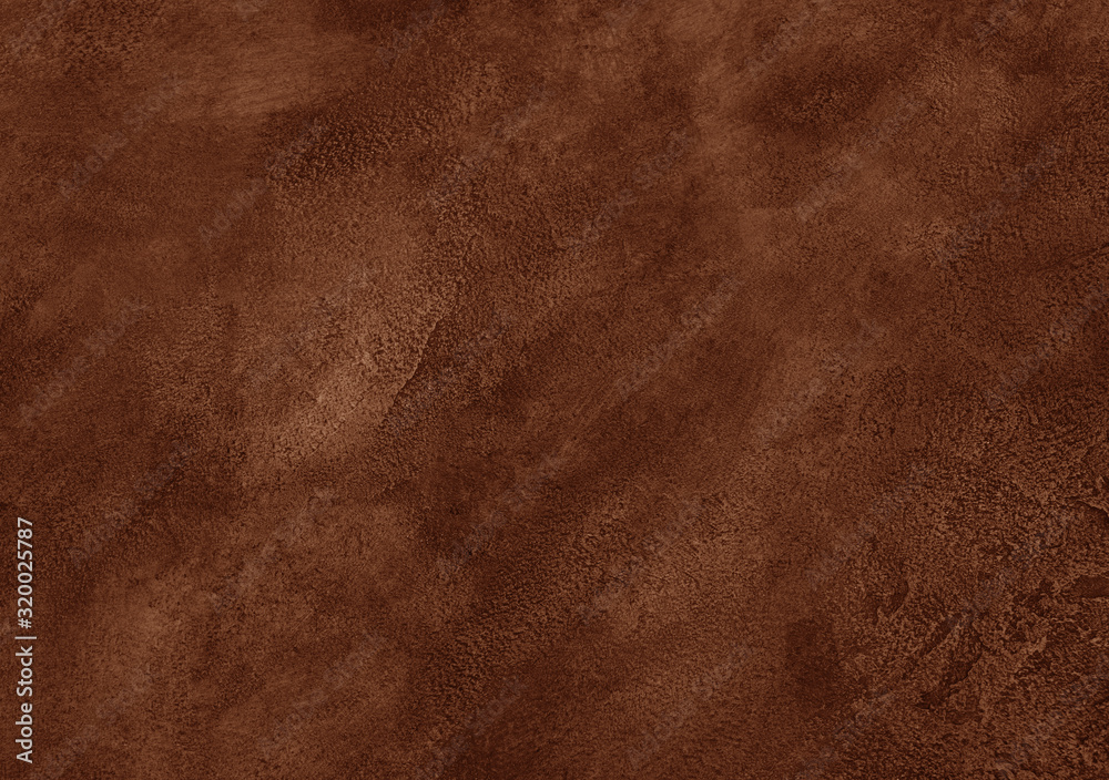 Fototapeta Worn brown marble or cracked concrete background (as an abstract brown vintage background)