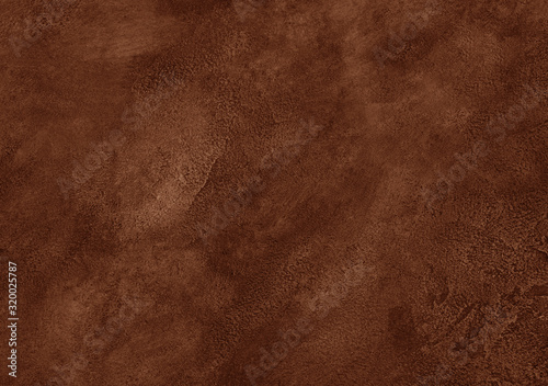 Fototapeta Worn brown marble or cracked concrete background (as an abstract brown vintage background) obraz